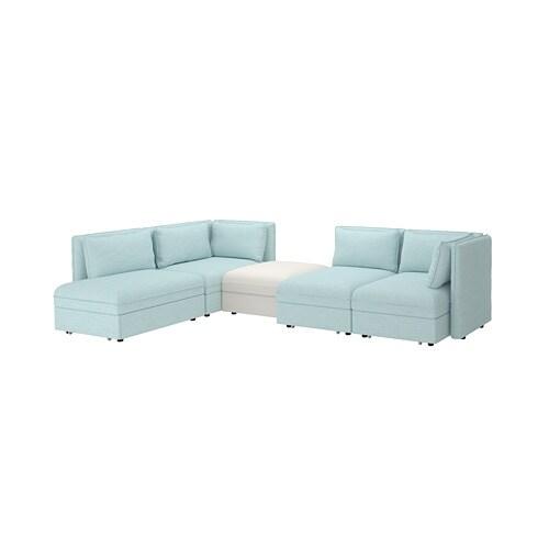 Vallentuna canap modulable 4 places avec 3 canap s lits avec rangement hillared murum bleu - Canape modulable ikea ...