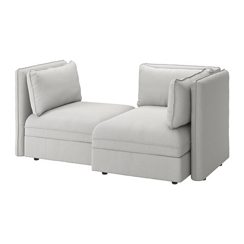 Vallentuna canap modulable 2 places avec canap lit avec rangement orrsta gris clair ikea - Canape modulable ikea ...