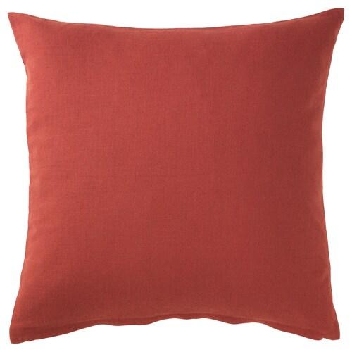 VIGDIS housse de coussin rouge orange 50 cm 50 cm