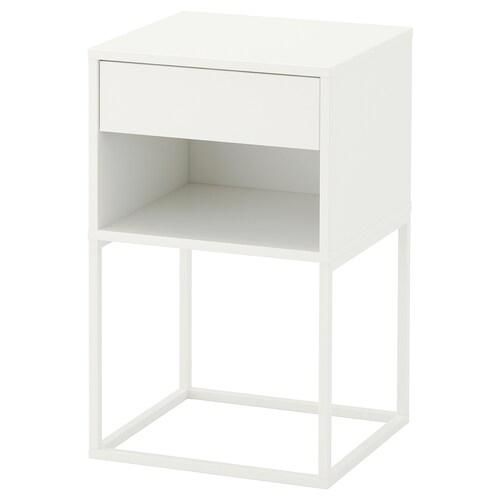 VIKHAMMER table chevet blanc 7 cm 40 cm 39 cm 65 cm 33 cm 33 cm