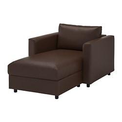 VIMLE chaise longue, Farsta, brun foncé