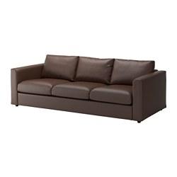 VIMLE canapé 3 places, Farsta, brun foncé