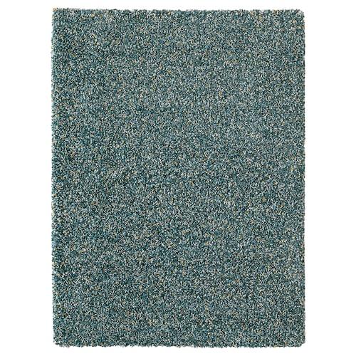 VINDUM tapis, poils hauts bleu vert 180 cm 133 cm 30 mm 2.39 m² 4180 g/m² 2400 g/m² 26 mm