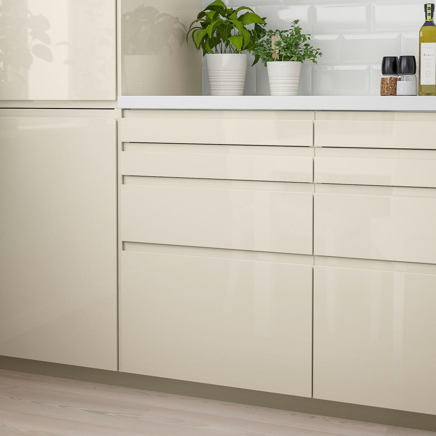 VOXTORP Face de tiroir - brillant beige clair 12x12 cm