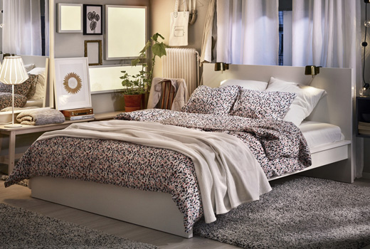 Double Bed Frames Kind And Queen Size Bed Ikea Uae Ikea
