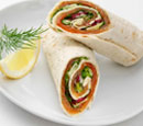 Marinated Salmon Wrap