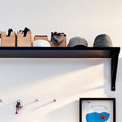 Hallway clothes shoe storage wall shelves more ikea - Porte manteaux mural ikea ...