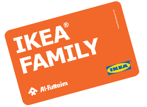 Terms: *Offer valid for existing and new IKEA Family members only. Limit one restaurant receipt per store discount. Home furnishings purchase must be made the same day as the restaurant purchase. Not valid on IKEA Gift Card purchases. Offer not valid at IKEA Stoughton, IKEA Carson, IKEA Columbus and IKEA New Haven.