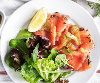 Marinated Salmon Plate