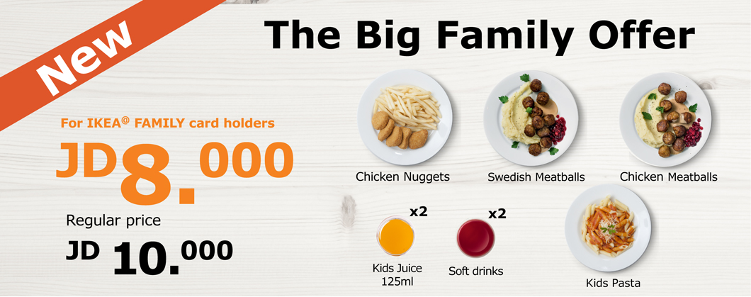 IKEA FAMILY food offer