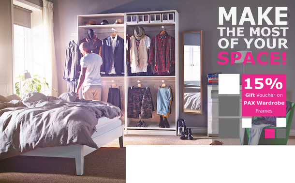 plan your wardrobe with IKEA