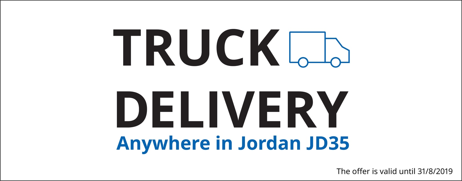 Special offers on truck delivery prices for online shopping !
