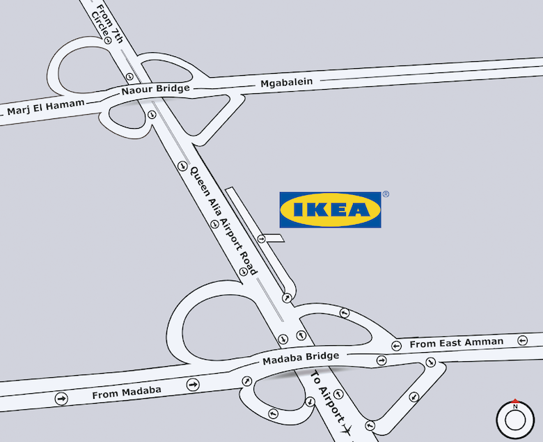 go to IKEA Jordan map