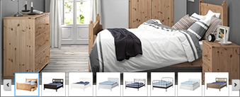 Choose your ideal combination and plan your perfect fit with IKEA BEDROOM Vista