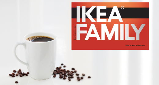 IKEA FAMILY is IKEA's unique membership club – specifically created for fans of IKEA and offering a range of benefits and rewards – including special discounts on regular IKEA products, and access to the unique and exclusive IKEA FAMILY product range.