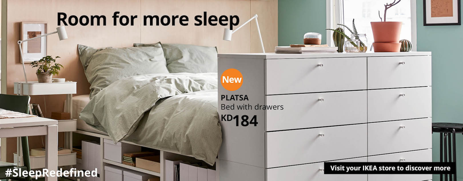 Platsa system make room for more sleep
