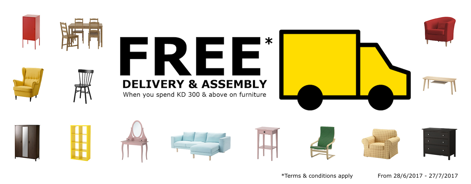 Free delivery and assembly offer