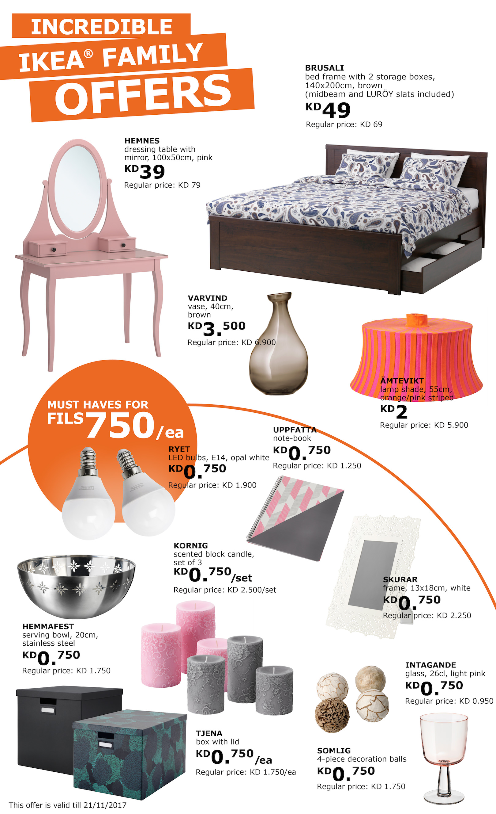 huge ikea sale on a big amount of products for ikea family members