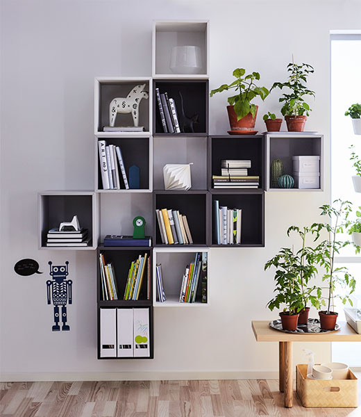 Shelving units systems ikea for Ikea living room wall cabinets