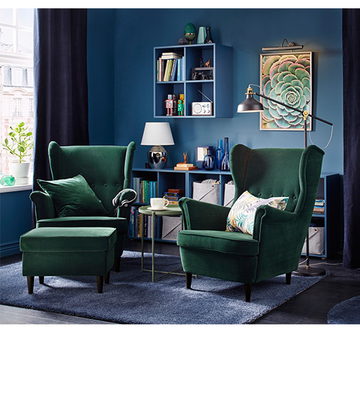 Strandmon Wing Chair Djuparp Dark Green