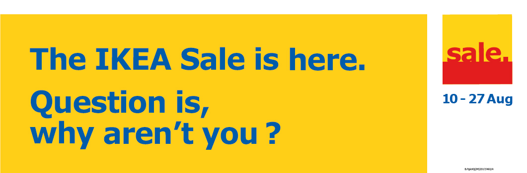 The IKEA sale is here. Question is, why aren't you?