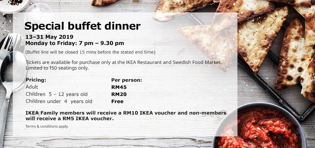 IKEA SPECIAL BUFFET DINNER