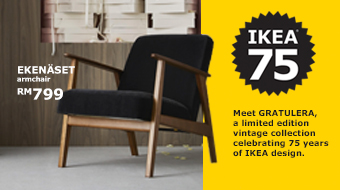 Step back into the 50-60's with the new IKEA GRATULERA collection, which celebrates IKEA turning 75 years of age.