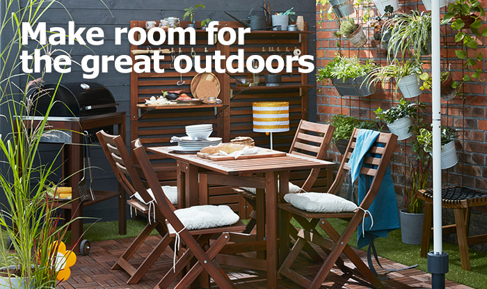 IKEA Home Furnishings helps you make the most of your patio, balcony or outdoor space!