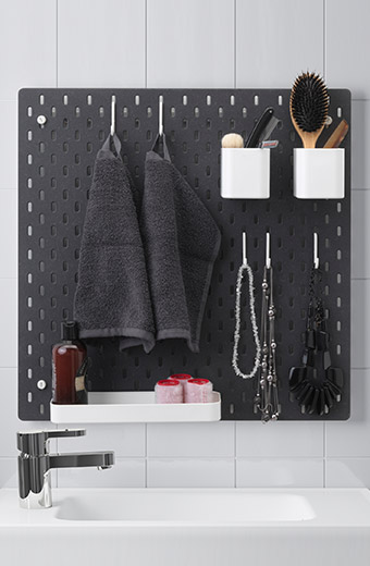 ikea home furnishings skadis wall storage solution showcase