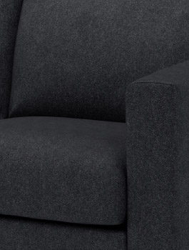 VIMLE black grey sofa cover