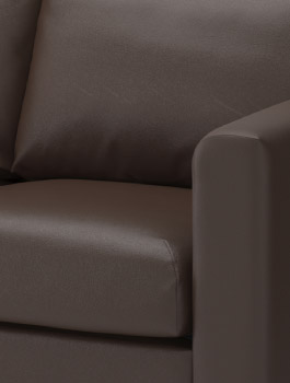 VIMLE leather brown sofa cover