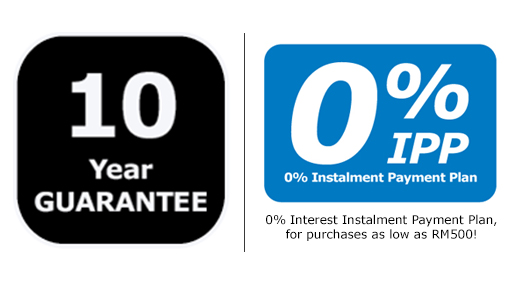 PAX/KOMPLEMENT 10 years guarantee & 0% IPP
