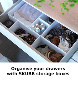 SKUBB storage boxes
