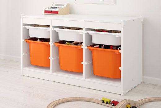 The Land of Nod | Kids' Storage Containers: Kids Colorful See-Through  Stackable