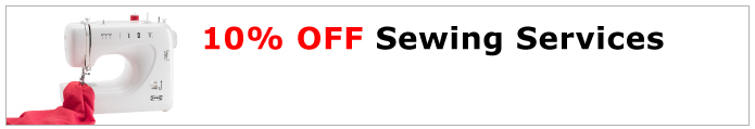 10% off sewing service