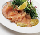 Marinated Salmon with Mixed Greens