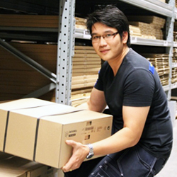 a photo portrait of IKEA In store logistics, Supapong Parnduang