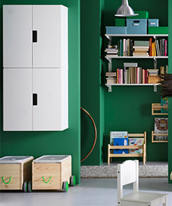 STUVA storage combination with doors