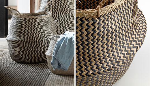 FLADIS baskets seagrass