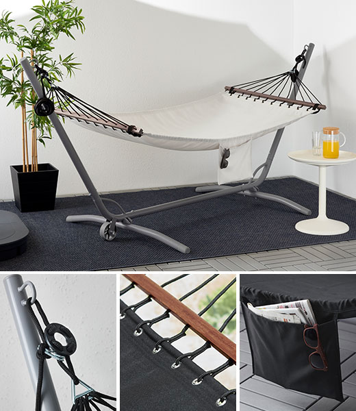 FREDON hammock, black and white