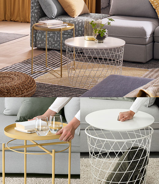 Round Coffee Table With Storage Singapore: Coffee Tables & Side Tables