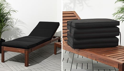 KUNGSO Cushion For Lounge Bed, Black. IKEA; /; Outdoor ...