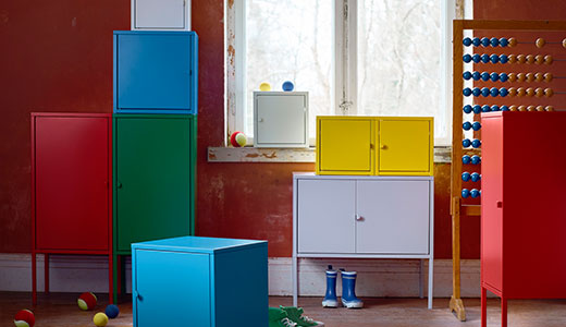 LIXHULT colorful cabinets