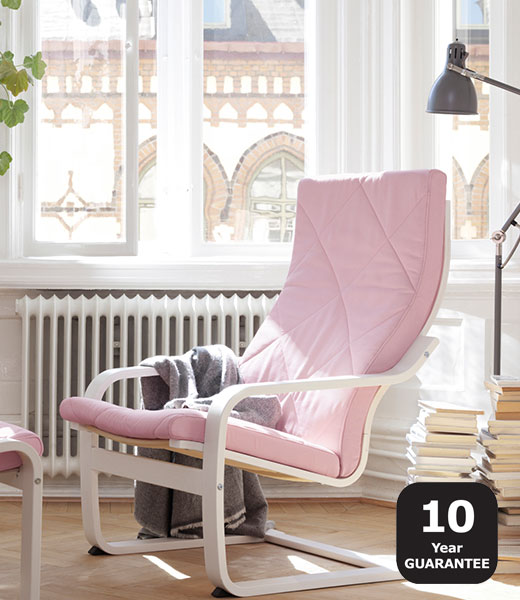 POANG armchair fabric pink