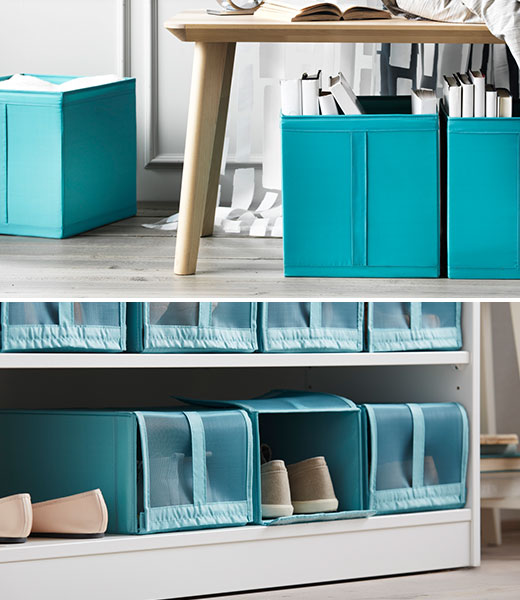 SKUBB boxes and shoe organizers