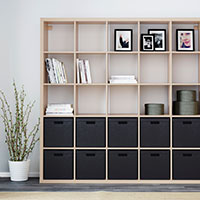 categories storage - open shelving & cabinets