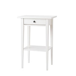 HEMNES bedside table, white