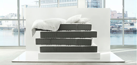 HÖVÅG pocket sprung mattress, firm, dark grey