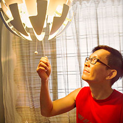 Marcus has found new ways to save energy, too. He installed LED lights, stocked up on IKEA recyclable batteries, changed out an old TV and a dishwasher for more energy-efficient versions.