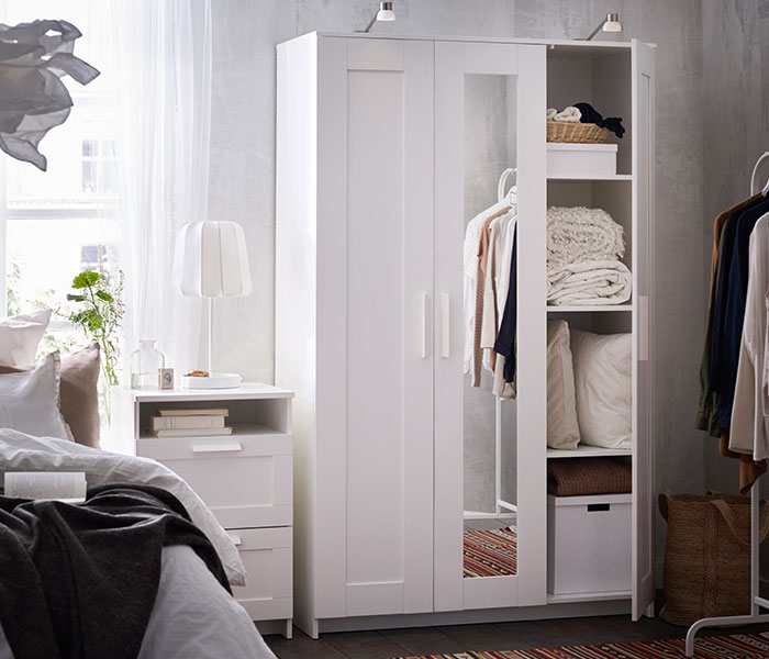 BRIMNES Wardrobe And Chest Of 2 Drawers